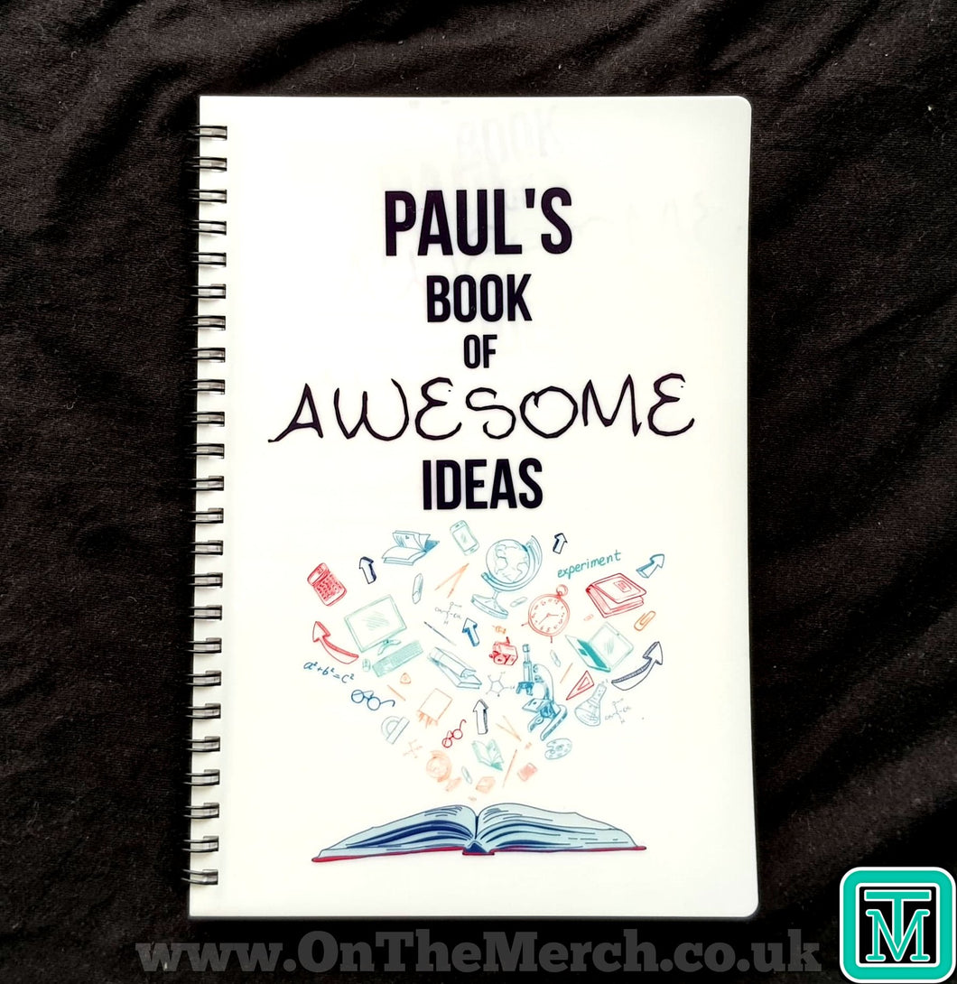 Personalised Awesome Ideas A5 Notebook - On The Merch