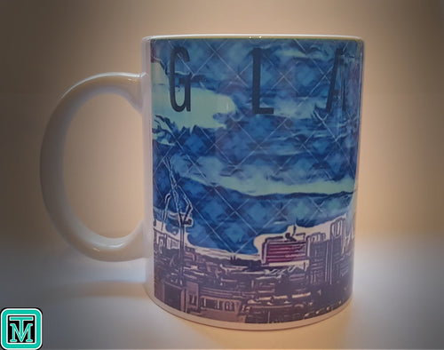 Glasgow Skyline Tartan Mug - On The Merch
