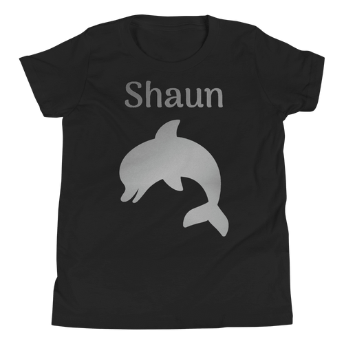 Personalised Dolphin T-Shirt - Black - On The Merch