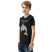 Load image into Gallery viewer, Personalised Dolphin T-Shirt - Black - On The Merch