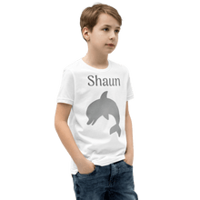 Load image into Gallery viewer, Personalised Dolphin T-Shirt - White - On The Merch