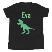 Load image into Gallery viewer, Personalised T-Rex T-Shirt - Black - On The Merch
