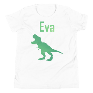 Personalised T-Rex T-Shirt - White - On The Merch
