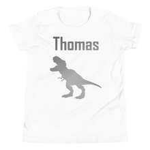 Load image into Gallery viewer, Personalised T-Rex T-Shirt - White - On The Merch