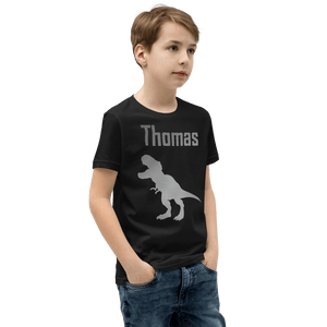 Personalised T-Rex T-Shirt - Black - On The Merch