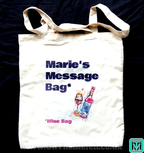 Personalised Message Wine Tote Bag - On The Merch