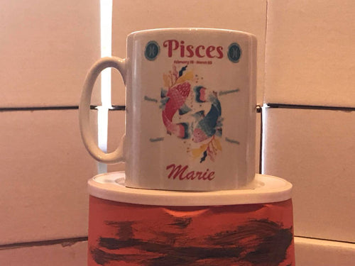 Pisces Mug Personalised - On The Merch