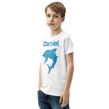 Load image into Gallery viewer, Personalised Shark T-Shirt - White - On The Merch