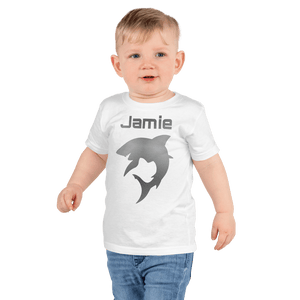 Personalised Shark T-Shirt - White - On The Merch