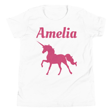 Load image into Gallery viewer, Personalised Unicorn T-Shirt - White - On The Merch