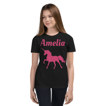 Load image into Gallery viewer, Personalised Unicorn T-Shirt - Black - On The Merch