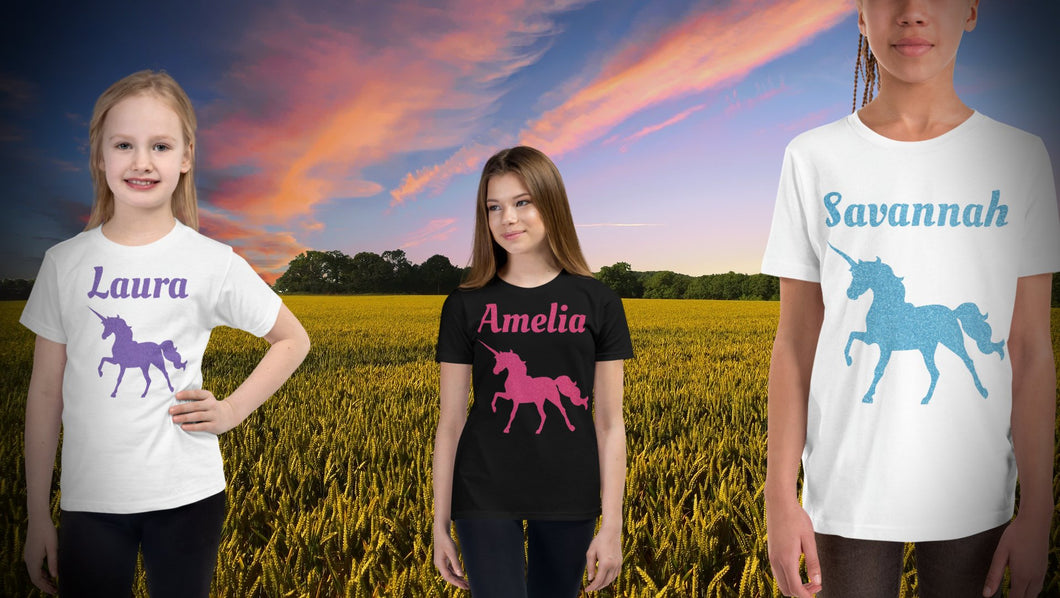 Personalised Unicorn T-Shirt - White - On The Merch