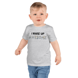 Wake Up Awesome T-Shirt -Grey - On The Merch