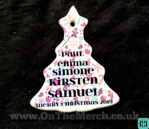 Ceramic Tree Family Names Ornament - On The Merch