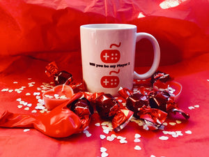 Valentines Gamer Mug Set Personalised - On The Merch
