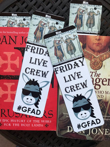 Friday Live Crew Metal Bookmark