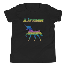 Load image into Gallery viewer, Personalised RAINBOW Unicorn T-Shirt