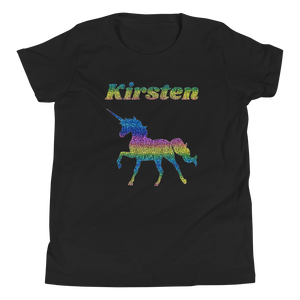 Personalised RAINBOW Unicorn T-Shirt