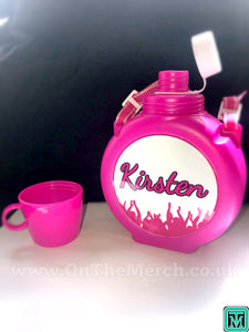 Personalised Kids Water Bottle - Pink - On The Merch