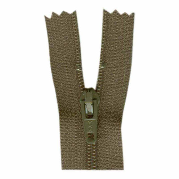 COSTUMAKERS General Purpose Closed End Zipper 18cm (7″) - Taupe - 1700