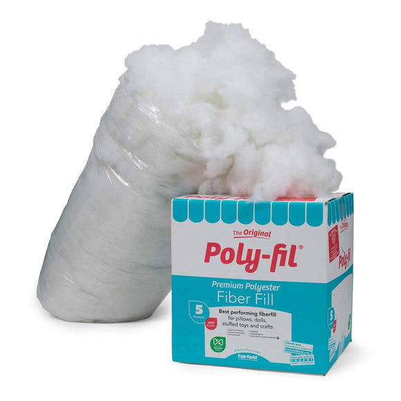 FAIRFIELD Poly-Fil® Premium Fiber Fill - 2.3kg (5 lbs) bag
