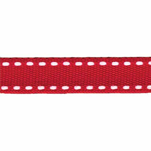 CREATIV DÉCOR Double Saddle Stitch Ribbon 10mm x 20m - Red