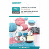 UNIQUE SEWING Buttons to Cover Kit with Tool - size 20 - 12mm (1⁄2″) - 5 sets