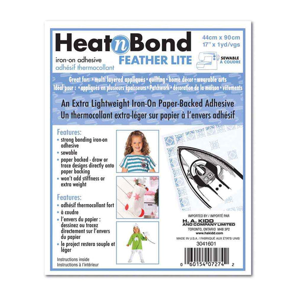HEATNBOND Feather Lite Iron-On Adhesive - 43cm x .9m (17″ x 1yd) pkg.