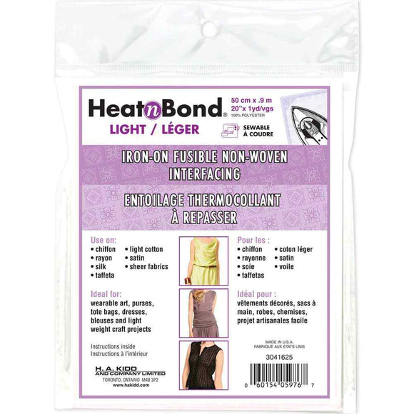 HEATNBOND Non-Woven Light Weight Fusible Interfacing - 50cm x 0.9m / 20″ x 1 yd