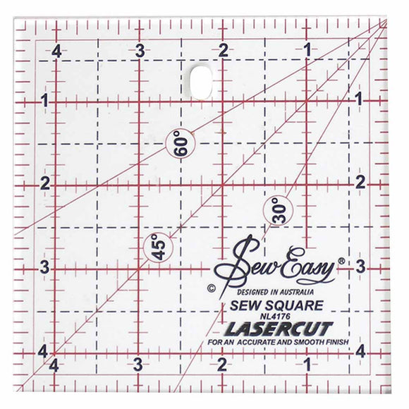 SEW EASY Square Ruler - 41⁄2″ x 41⁄2″ (11.4 x 11.4cm)