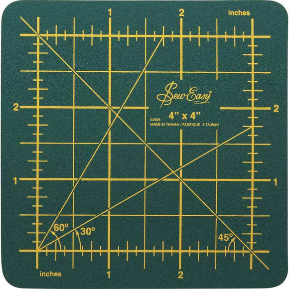 SEW EASY Cutting Mat - 4″ x 4″ (10.2 x 10.2cm)