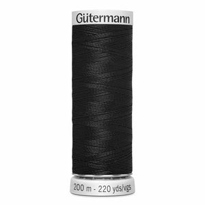 GÜTERMANN Dekor Rayon Thread 200m - Black