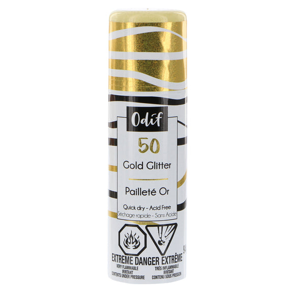 ODIF Glitter Spray Varnish - Gold - 94g