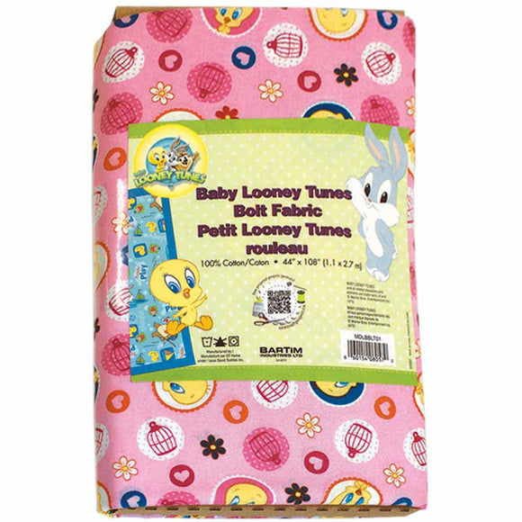 LOONEY TUNES Looney TunesTM Cotton Licensed Fabric - 2.75 x 1.1m (3yd x 42″)