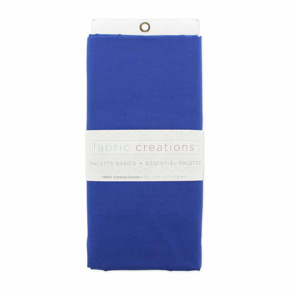 FABRIC CREATIONS 100% Cotton Fabric - Royal Blue - 1.8 x 1m (2yds x 42″)