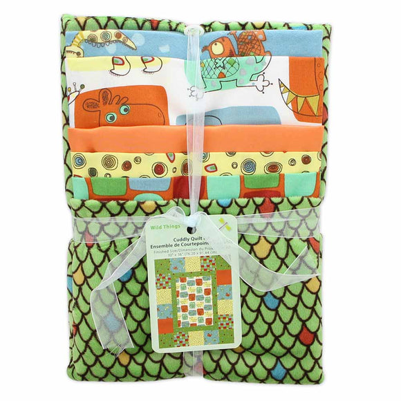 FABRIC CREATIONS Cuddly Quilt Kit - Wild Things - 76.20 x 91.44cm (30″ x 36″)