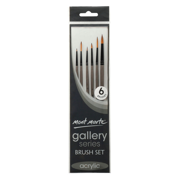 MONT MARTE Gallery Series Brush Set Acrylic - 6pcs
