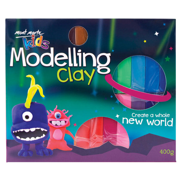 MONT MARTE Kids Modelling Clay - Bright Colours - 24pcs