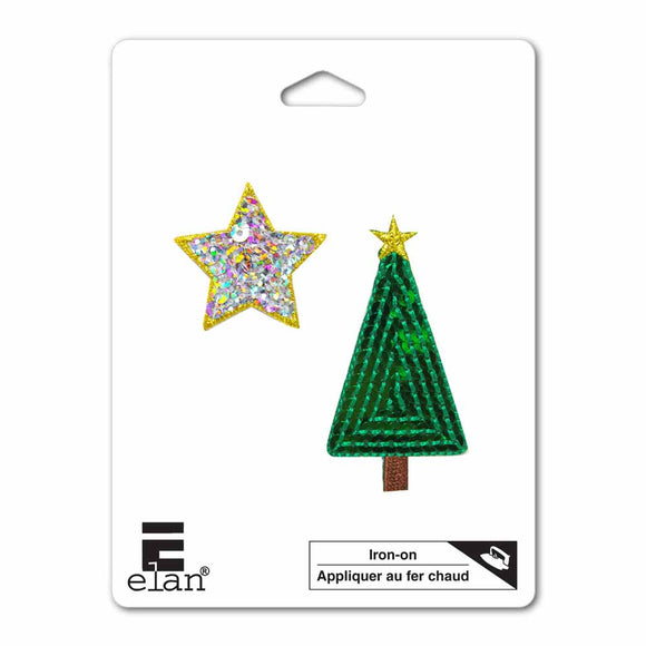 ELAN Motif - Christmas Tree And Star - 60mm
