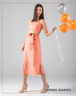 Vogue orange co-ord set