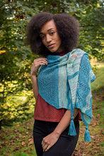 Load image into Gallery viewer, Lazuli Bunting Asymmetrical Shawl
