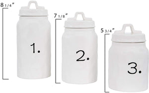 Numbered Canister Set