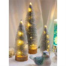 Load image into Gallery viewer, Bottle Brush Trees - LED Silver Glitter