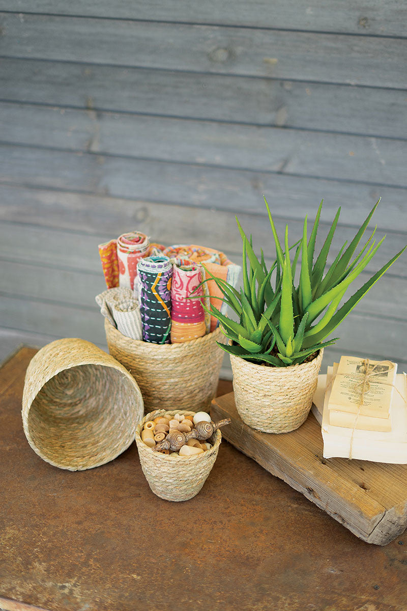 Round Seagrass Baskets