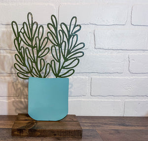 "10"" Succulent Cutout - Teal & Green"