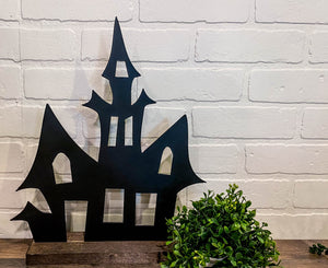 "10"" Haunted House Cutout - Black"