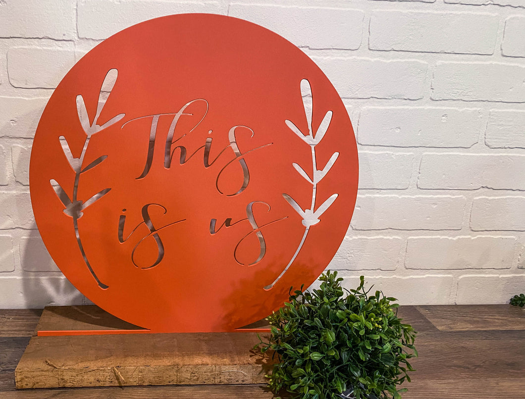 "16"" This Is Us Cutout - Coral"