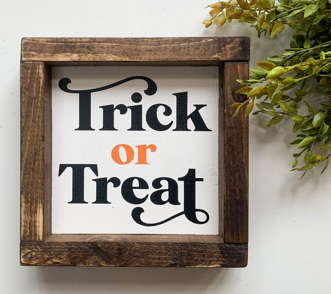 Handmade Sign - Trick Or Treat