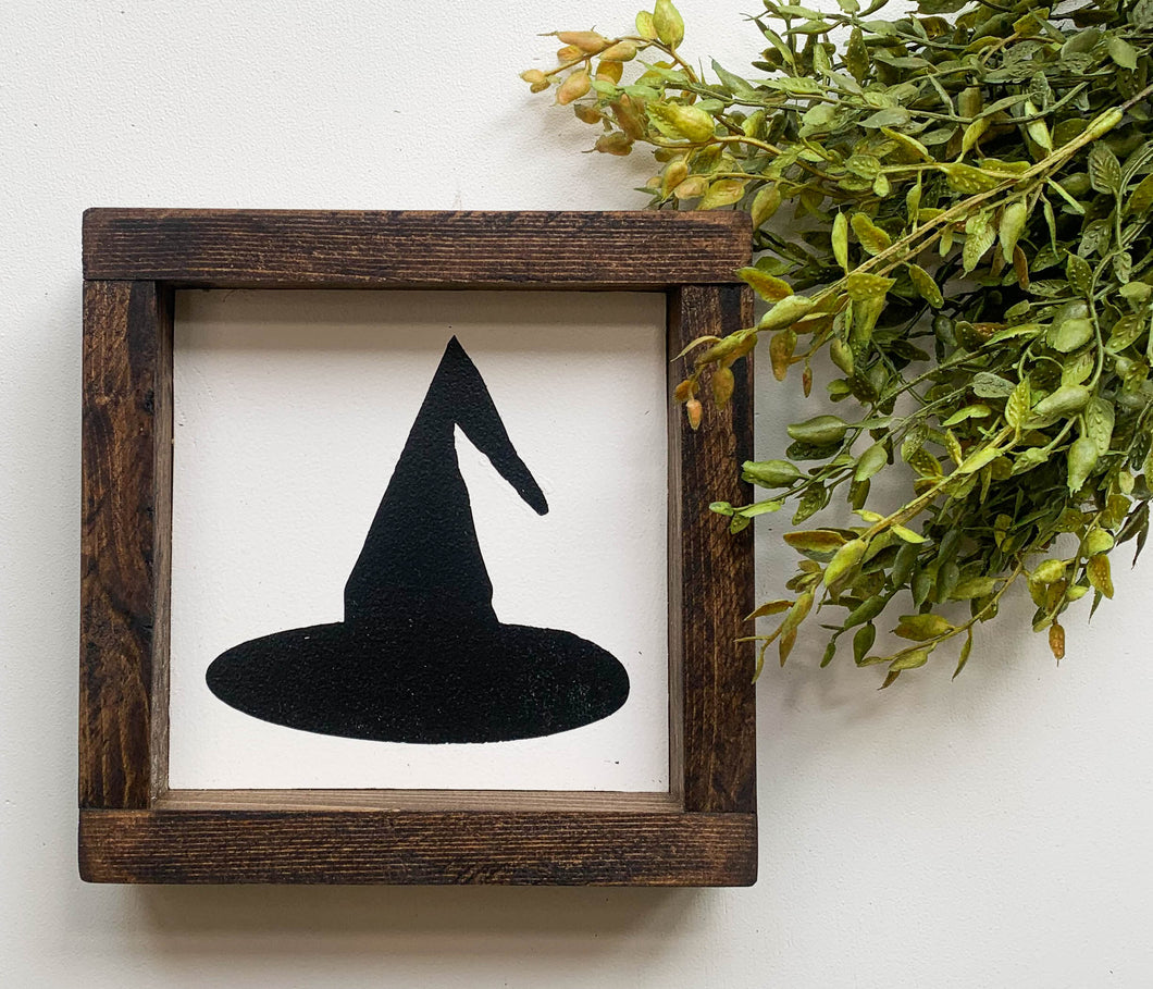Handmade Sign - Witch's Hat