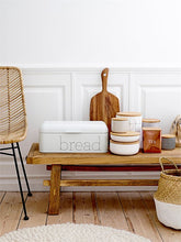 Load image into Gallery viewer, Metal Bread Bin in White